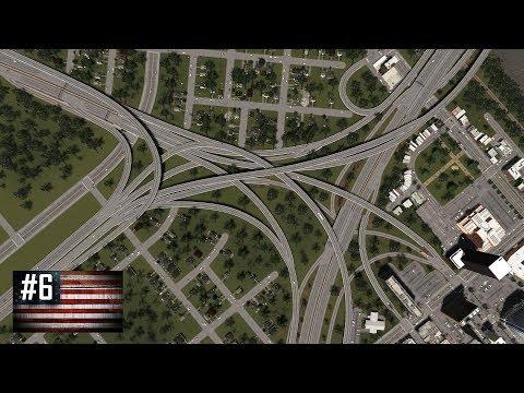 Cities: Skylines - The American Dream #6 - Big Interstate/highway interchange & small neighbourhood