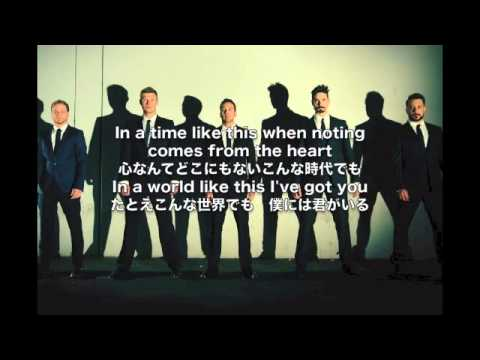 Backstreet Boys-IN A WORLD LIKE THIS 歌詞、和訳付き - YouTube