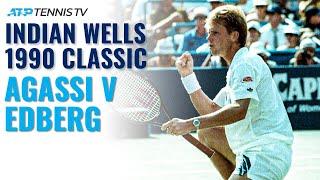 Extended Highlights: Stefan Edberg v Andre Agassi   Indian Wells Final 1990