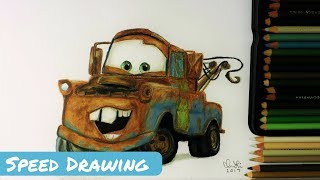 Tow Mater||Speed Drawing||Art by Belle