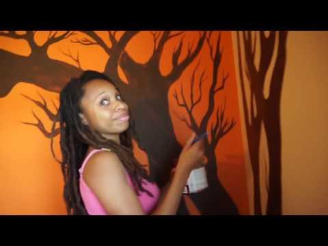 DIY Room Decor: Tree Silhouette Wall Art by The Bohemian Gem