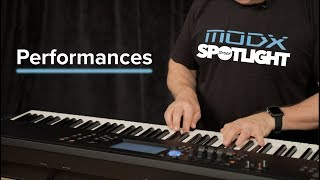 YAMAHA MODX: Performances