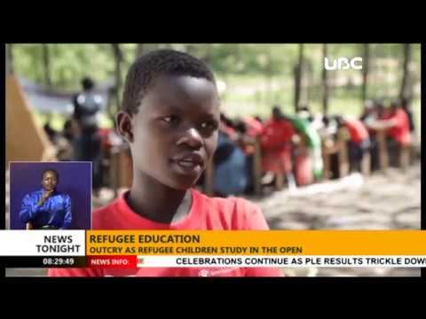 Children in Tanzania refugee camps attend classes in the open due to lack of sufficient funds