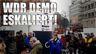 Demonstrationen vor dem WDR Köln eskaliert #Umweltsäue #Nazisäue