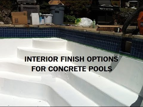 Concrete Pool Finish Options