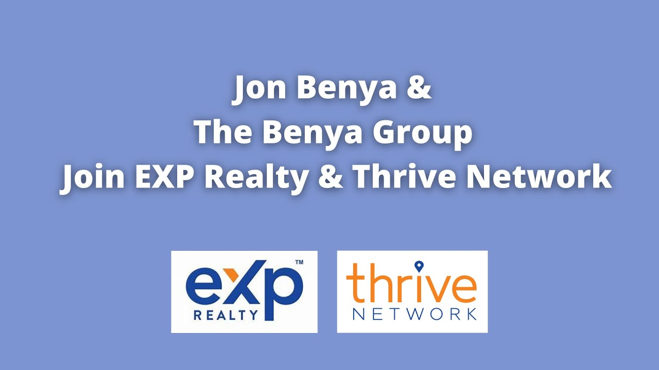 Jon Benya & The Benya Group, one of the top Real Estate Sales Teams in Maryland, join eXp & Thrive!