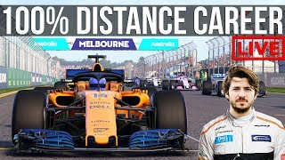 F1 2018 - 100% Distance Career Mode | Round 1: Melbourne
