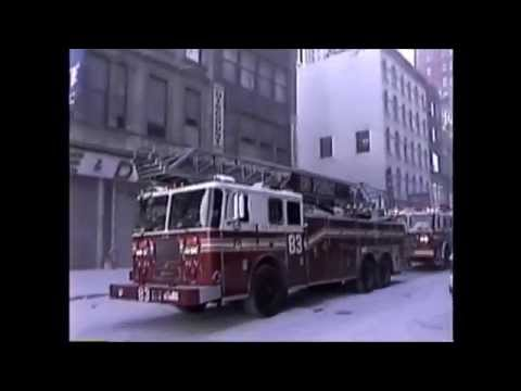 MY ORIGINAL 9/11 FOOTAGE - SCORES OF FDNY UNITS RESPONDING ON CHAMBERS ST. ON SEPTEMBER 11, 2001.