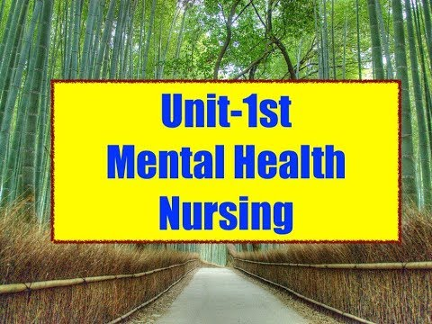 unit--1st-mental-health-nursing