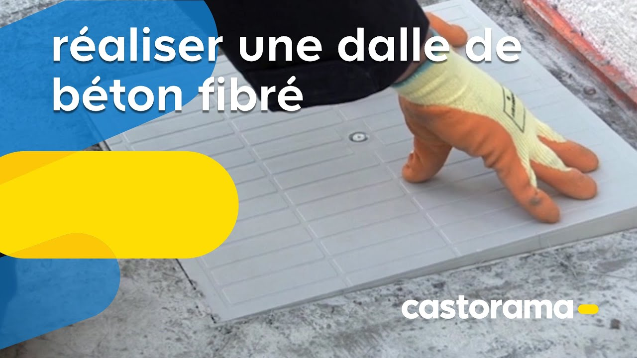Réaliser Une Dalle De Béton Fibré Castorama YouTube - Dosage beton dalle terrasse