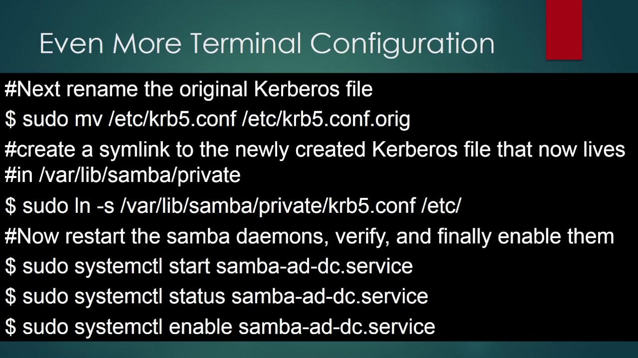 Samba 4 Active Directory on Debian 8