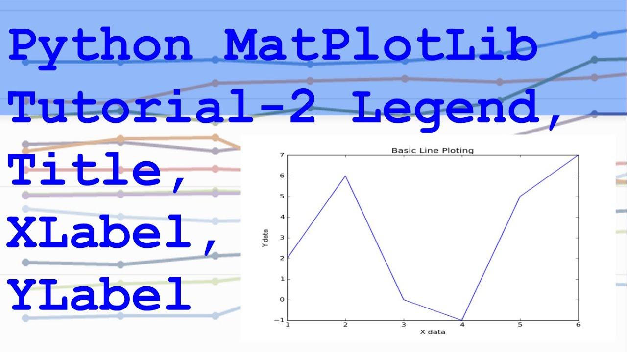 Python MatPlotLib Legend, Title, Label Tutorial 2
