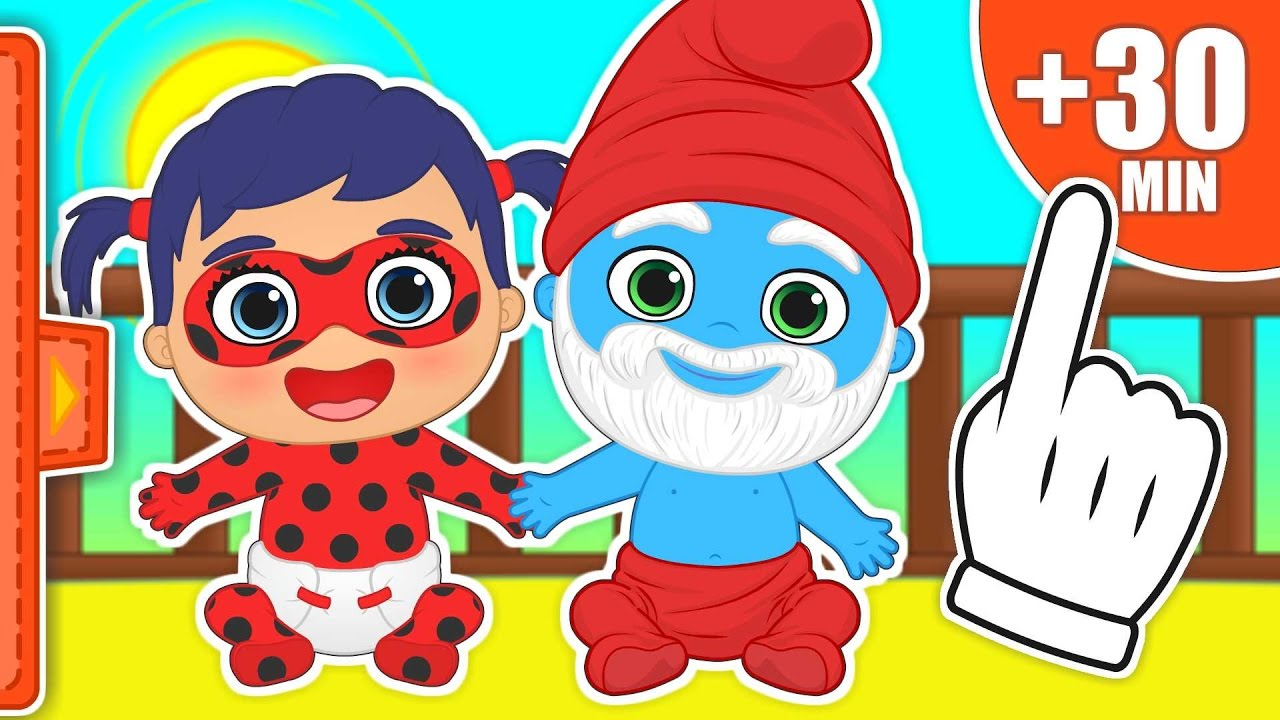30-minutes-of-best-babies-episodes-transform-into-ladybug-the-smurfs-disney-junior-and-more