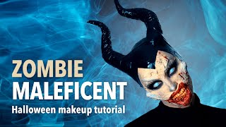 Zombie Maleficent halloween makeup tutorial