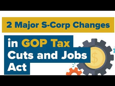 """New Tax Bill & Small Businesses: (2 Major S-Corp changes) in the GOP Tax Law """"Tax Cuts and Jobs Act