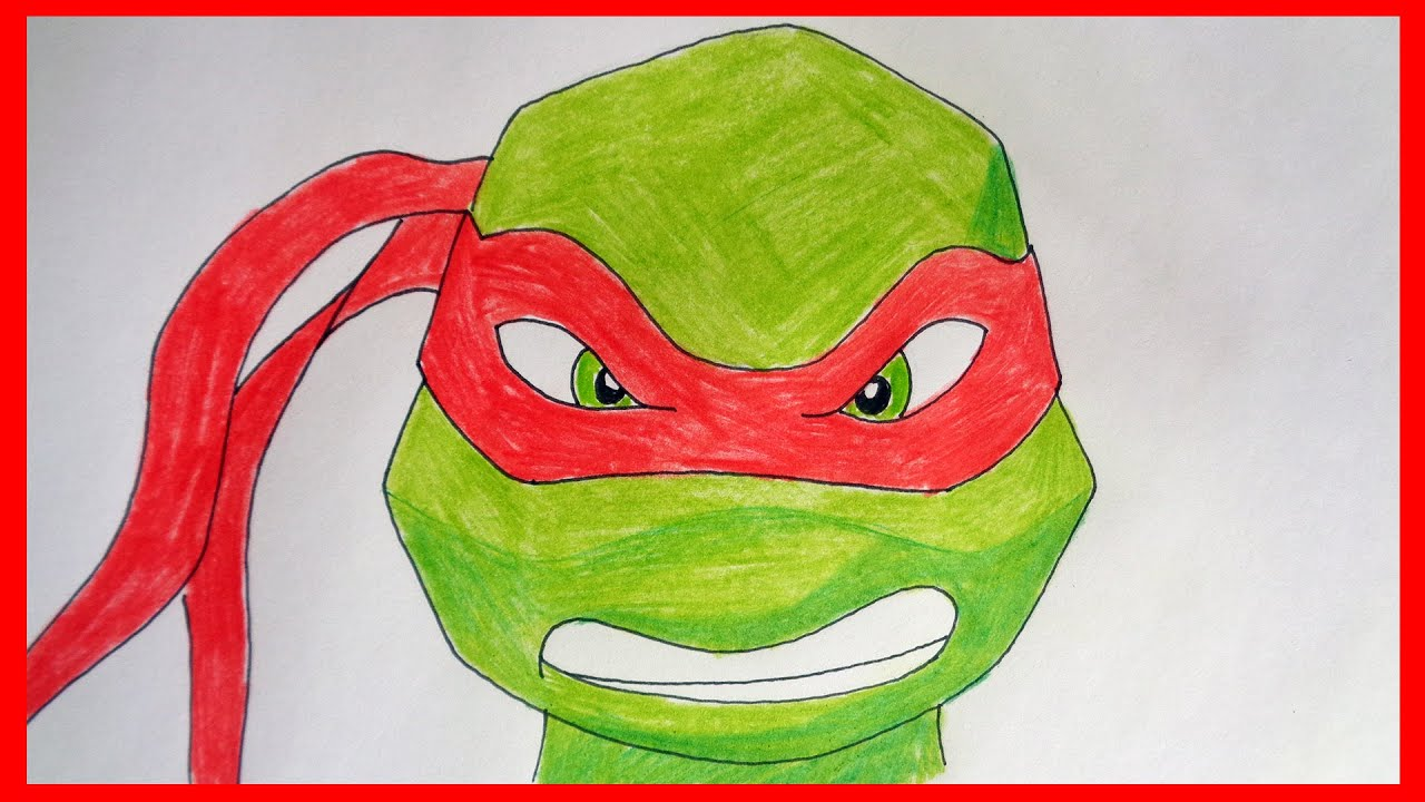 How to draw ninja turtles 2012 Raphael, Как нарисовать ...
