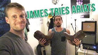 James Tries Ariat Cowboy Boots! - Making a Band 3
