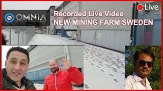 Recorded LIVE OMNIA CRYPTOCURRENCY MINING FARM from Sweeden