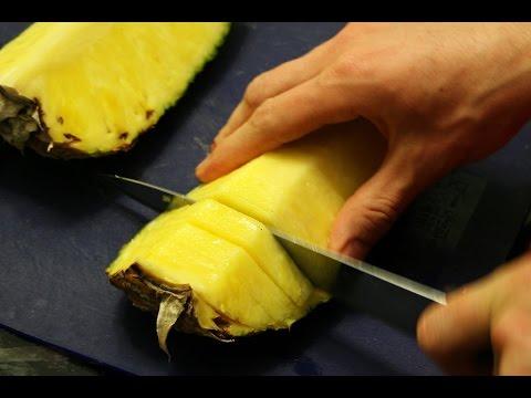 Как почистить ананас в домашних условиях видео