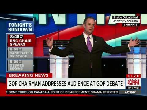 RNC Chairman Reince Priebus CNN Republican Presidential Debate Introduction