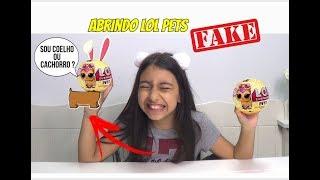 ABRINDO LOL PETS SURPRESA  FAKE - METADE COELHO METADE CACHORRO !!! -