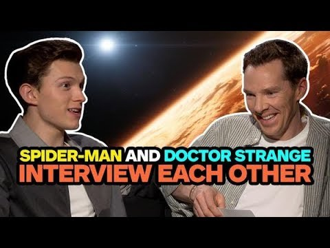 Avengers Infinity War s Spider Man and Doctor Strange Interview