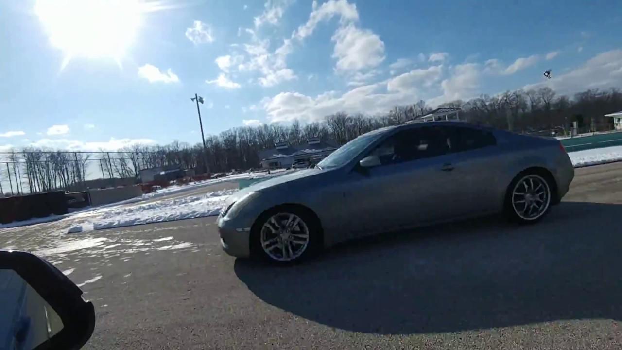 bmw 328i m sport awd auto vs infiniti g35 coupe manual snow drag rh youtube com