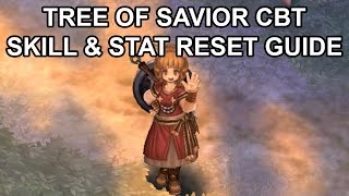 Tree of Savior Online Skill and Stat Reset Guide Tutorial