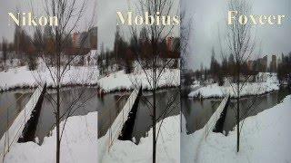 Тест сравнение видео камер Nikon Coolpix AW130- Mobius V2-A- Foxeer Legend1