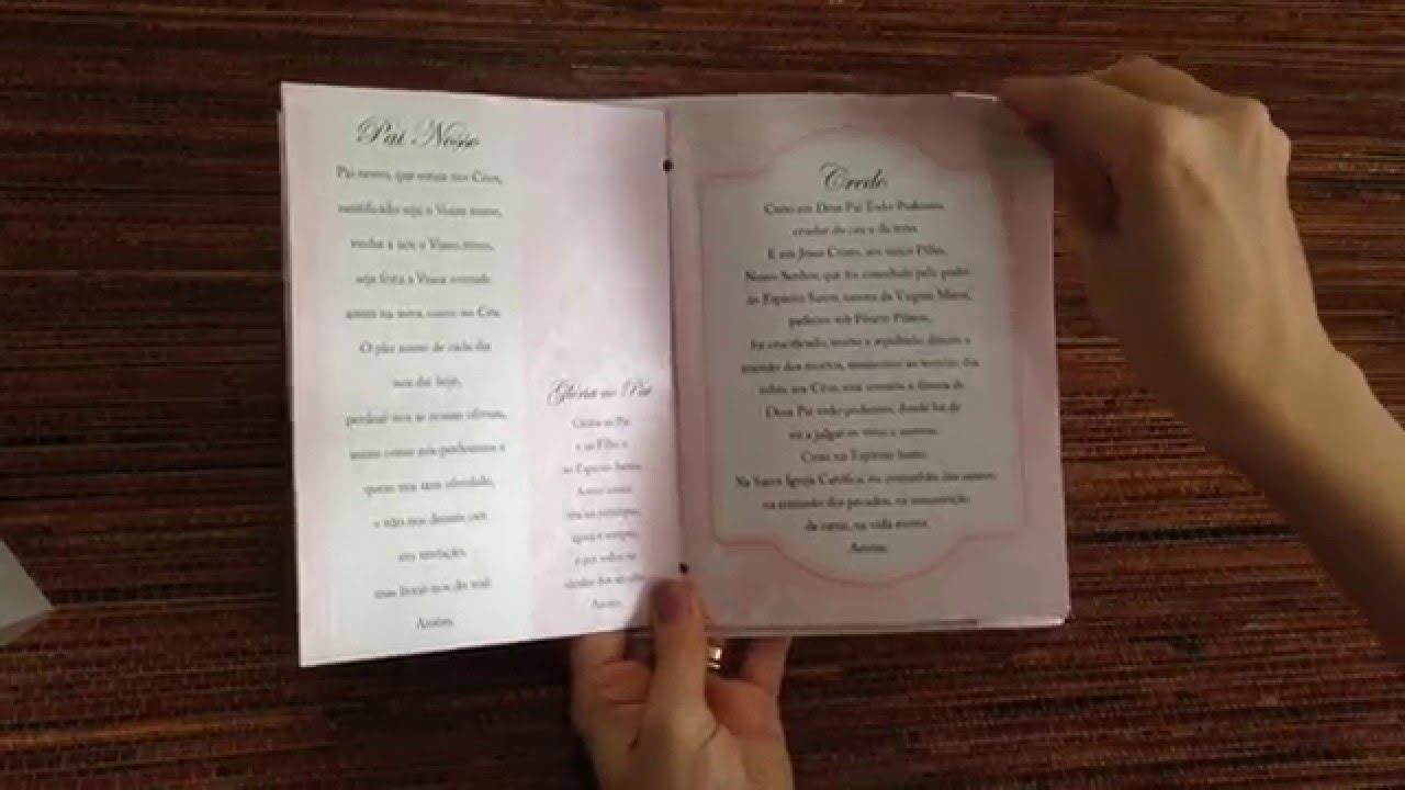 Livro De Oracoes Maxi Lembrancinha De Batizado Youtube