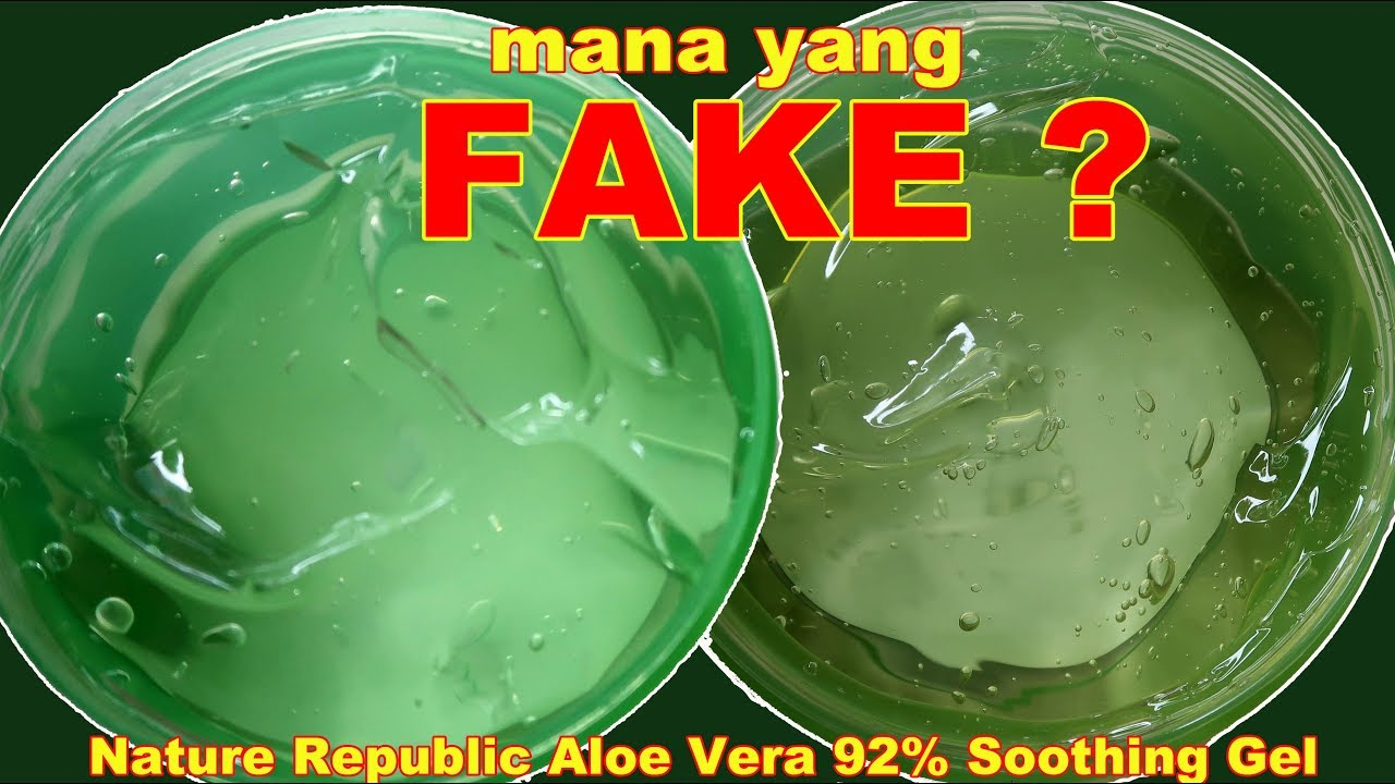 Nature Republic Aloe Vera 92 Soothing Gel Fake Vs Original Korea 300ml Maria Soelisty