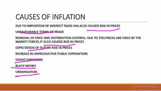 CAUSES AND GOVERNMENT MEASURES TO CONTROL THE INFLATION