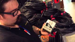 Testing XLR Cables at Hollywood Sound Systems audio rental department