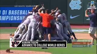 Auburn Baseball vs North Carolina Game 3 Highlights