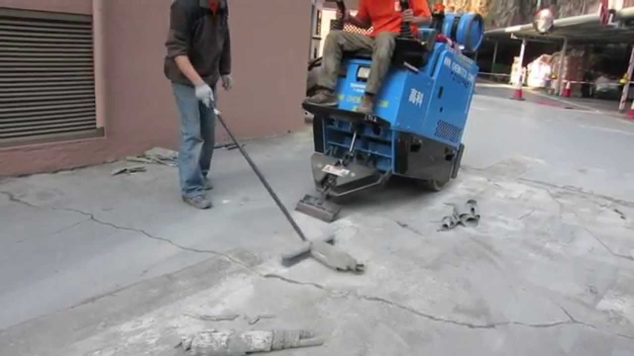 PU Car Deck Flooring Removal By Terminator TPro Rideon Floor - Stand up floor scraper