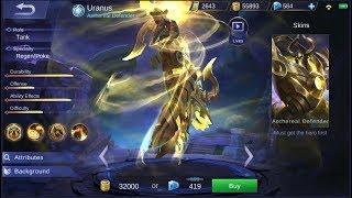 NEW HERO URANUS LIVE GAMEPLAY   MOBILE LEGENDS