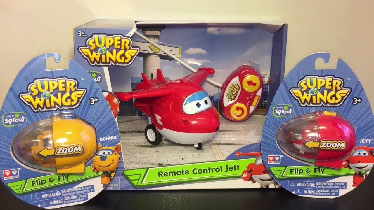 Super Wings Remote Control Jett RC Flip & Fly Toy Unboxing ...