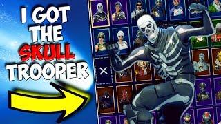 EU TENHO A PELE * SUPER RARO * SKULL TROOPER EM 2018! | Fortnite Battle Royale temporada 1 skins/itens