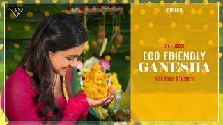 How To Make E¢o Friendly Ganesha | Vithika Sheru | Decor | DIY | Simplest Way |