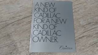 Brochure Cadillac Cimarron 1982