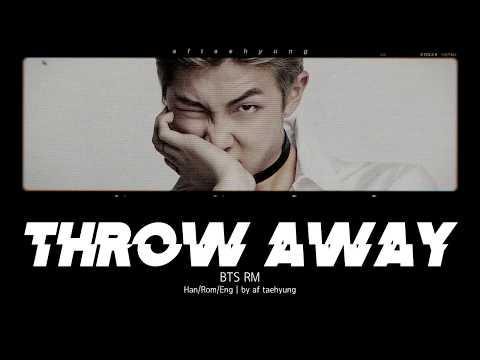 BTS RM - Throw Away (버려) (Color Coded Lyrics/Han/Rom/Eng)