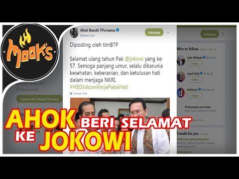 Hangatnya Ucapan Selamat Ulang Tahun dari Ahok kepada Jokowi