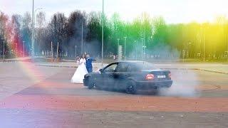 Дрифт на свадьбе BMW E39 M5