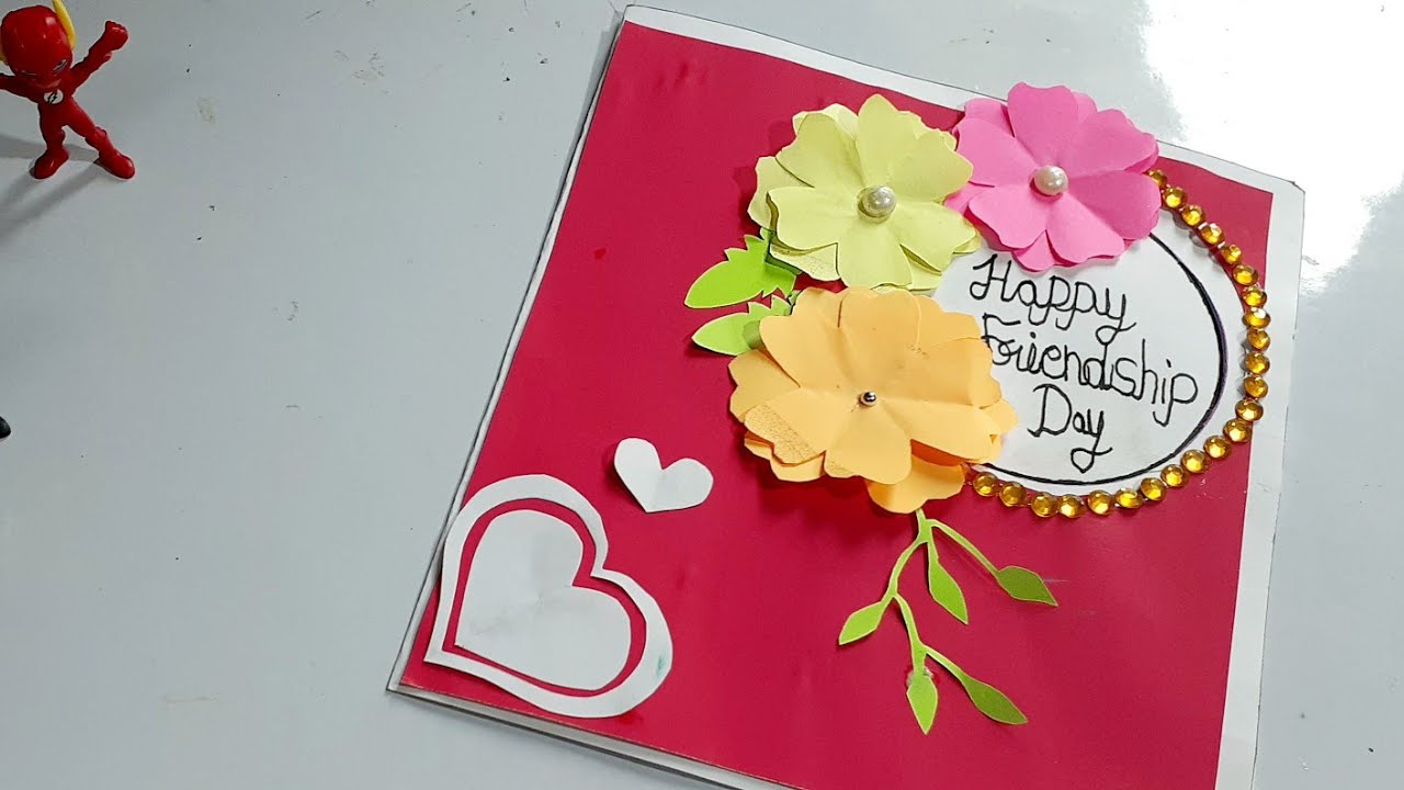 How To Make Greeting Card For Best Friend On Friendship Day Friendship Day Card Idea