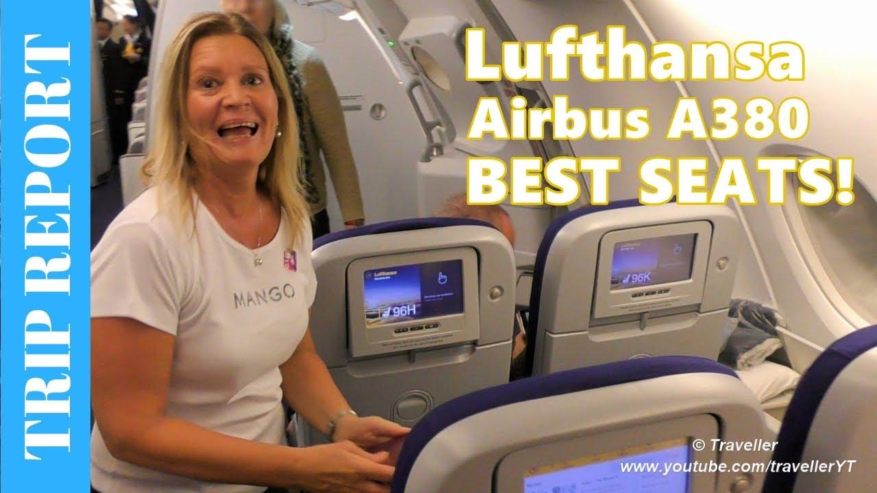 Tripreport - BEST SEATS! Lufthansa Airbus A380 Flight to Frankfurt on Economy Class Upper Deck