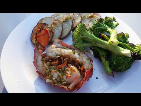 Grilled Lobster Tails with Browned Butter