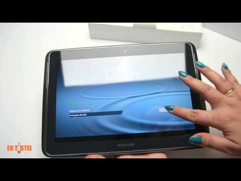 Unboxing Tablet Samsung Galaxy Note 10.1 16GB 3G GT-N8000 - Resenha Brasil