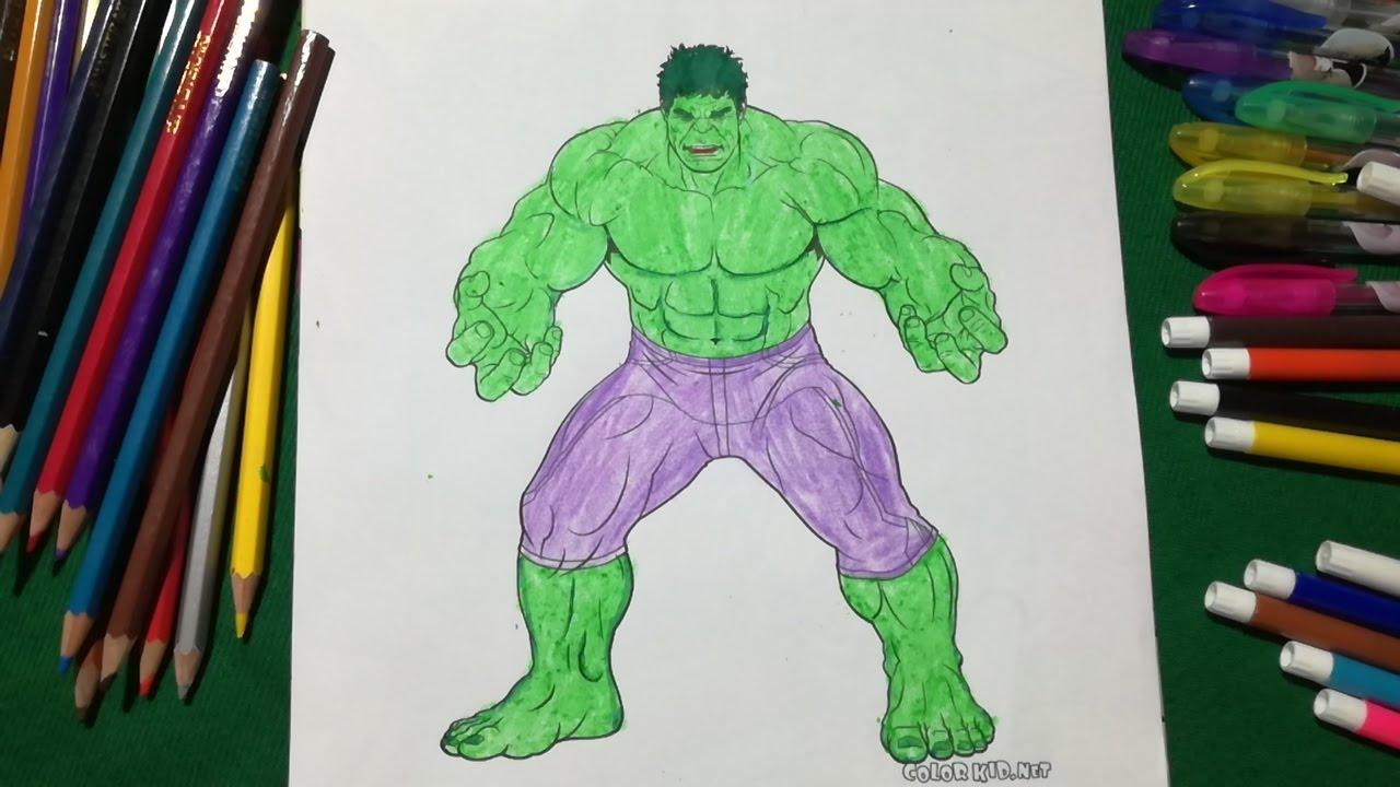 Hulk Coloring Fun Kids | Coloring Book For Kids Learning ...