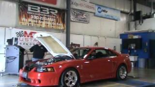 02 Saleen Mustang with 03 cobra motor on dyno @ Big 3 Racing