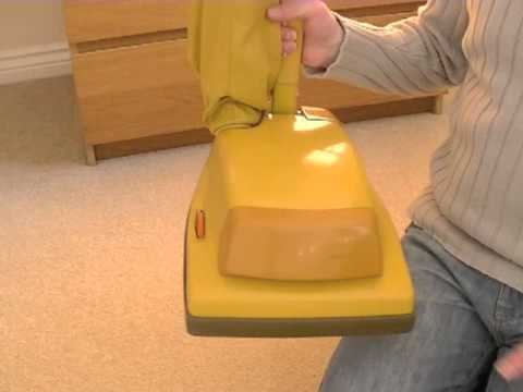 Vintage Hoover Junior U1036 Upright Vacuum Cleaner Demonstration & Review